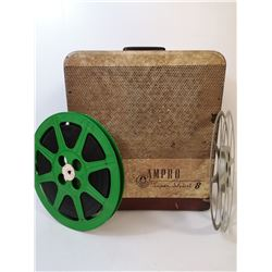 1940S AMPRO 16MM PROJECTOR WITH REELS