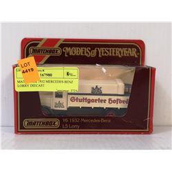 MATCHBOX 1932 MERCEDES BENZ LORRY DIECAST