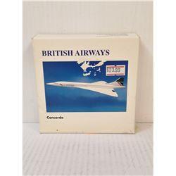 BRITISH AIRWAYS CONCORDE DIECAST PLANE