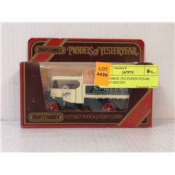 MATCHBOX 1922 FODEN STEAM LORRY DIECAST