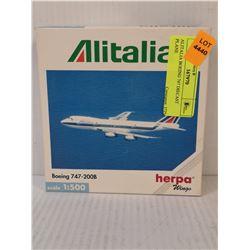 ALITALIA BOEING 747 DIECAST PLANE