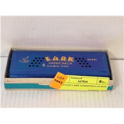 VINTAGE LARK HARMONICA IN BOX