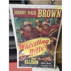 1940S WESTERN MOVIE POSTER JOHNNY MACK BROWN