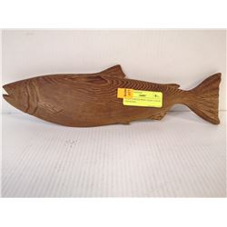 HAND CARVED WEST COAST CEDAR FISH HAIDA