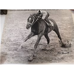 RON TURCOTTE KENTUCKY DERBY WINNER SIGNED PIC