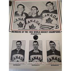 1955 HOCKEY CHAMPIONS WARWICK BROTHERS SIGNED