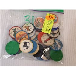 LOT OF 31 ASSORTED JELL-O COINS  VINTAGE