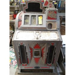 ANTIQUE LIBERTY BELL 5 CENT SLOT MACHINE BARN FIND