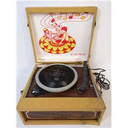 ANTIQUE EATONS VIKING RECORD PLAYER WORKS (NO