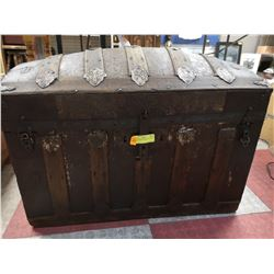 ANTIQUE 1800'S DOME TOP TRUNK