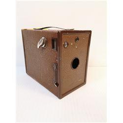 ANTIQUE AGFA BOX CAMERA BROWN
