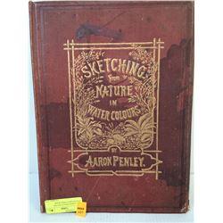 1890 AARON PENLEY WATER COLOUR SKETCHING BOOK