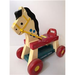 VINTAGE FISHER PRICE  RIDING HORSE WITH REINS