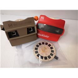 2 GAF VIEW MASTERS WITH  EXTRA  CARTRIDGES