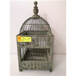 SHOW HOME DECOR WOOD/METAL CAGE 16 IN HIGH