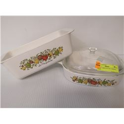 SET OF 2 SPICE OF LIFE CORNING WARE