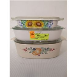 SET OF 3 COUNTRY FESTIVAL CORNING WARE