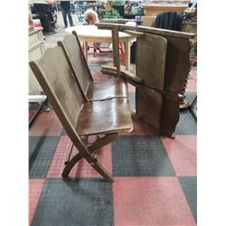 LOT OF 2 DOUBLE THEATRE CHAIRS