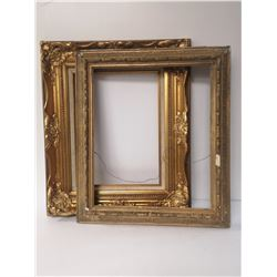 LOT OF 2 GUIIDED GOLD PICTURE FRAMES