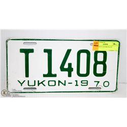 1970 YUKON LICENSE PLATE
