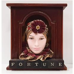 HANDCRAFTED 3D FORTUNE TELLER WITH PORCELAIN FACE