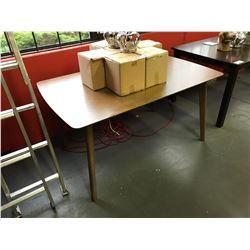 "36""W X 58""L X 30""H MODERN MEDIUM WOOD DINING TABLE ( MINOR DAMAGE )"