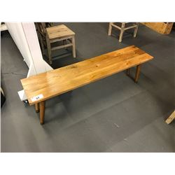 "60""W X 14""D X 19""H SOLID WOOD HALL BENCH"