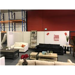 10 WHITE MOBILE SHOWROOM DISPLAY WALL SECTIONS