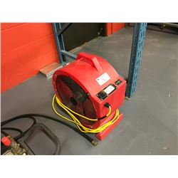 RED MOBILE ELECTRIC WAREHOUSE FAN