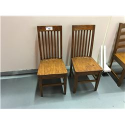 PAIR OF SOLID WOOD NAPLES COLLECTIONS SIDE CHAIRS STYLE 1