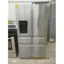 Kitchen Aide S S Side x Side Fridge w Bottom Freezer Drawer & Meat & Produce Drawers - Also Ice Wate