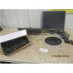 2 Satellite Receivers1) Ultraview 1) Bell & Ace Computer Monitor