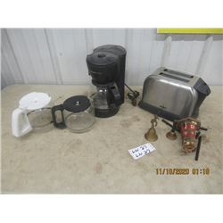 Kemore SS Toaster, Coffee Maker, Bells & Chimes