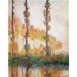 Claude Monet - Poplars in Autumn II