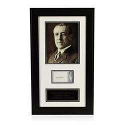 Woodrow Wilson Signed Cut Display PSA Certified