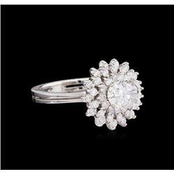 1.73 ctw Diamond Ring - 14KT White Gold