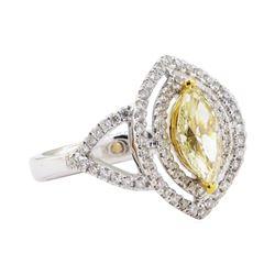 1.01 ctw Diamond Ring - 18KT White Gold