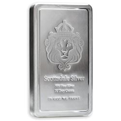 .999 Fine Silver Lion 10oz Stacker Bar - Made  in USA.