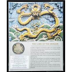 The Lore of the Dragon - 24kt Gold Plated  Medallion with Display Card