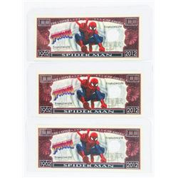 Lot (3) USA Spiderman Collector Notes