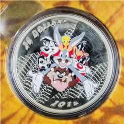 RCM 'Looney Tunes' Merrie Melodies LE .9999  Fine Silver $20.00 Coin
