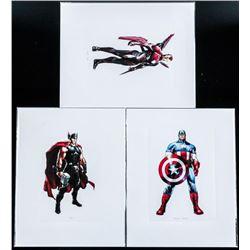 Group (3) Marvel Super Heroes 8x10 Lithos