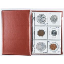 Stock Book - 18 Coins Mixed with Silver