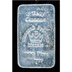 Hand Poured Bullion Bar .999 Fine Silver 2  Troy Ounce