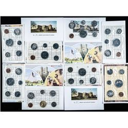 Lot (12) RCM UNC PL Coin Sets - 1980s
