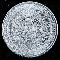 Aztec Calendar .9999 Fine Silver 1oz Round