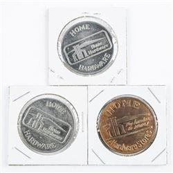 Lot (3) Home Hardware Trade Dollars