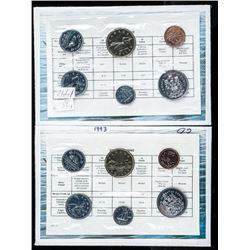Lot (2) RCM 1992-1993 UNC Coin Sets