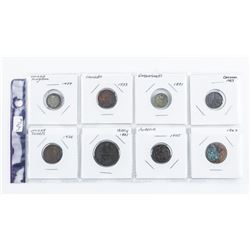 Group of (8) World Coins: Canada, UK,  Netherlands, Italy, USA etc