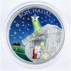 BON NADAL 2011 5D Coin, 925 Silver LE